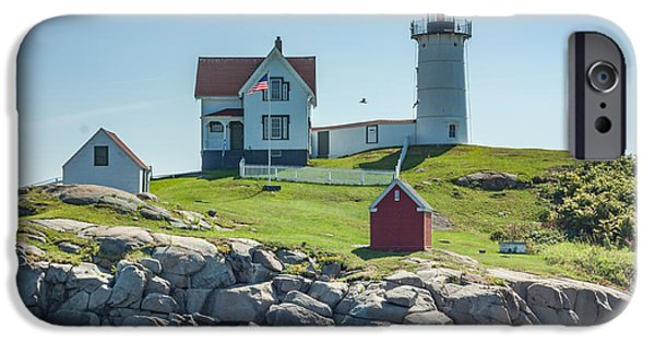 Nubble Lighthouse iPhone Cases - Cape Neddick Lighthouse iPhone Case by Brian MacLean