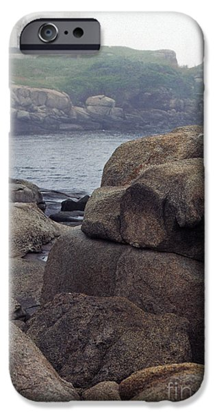 Cape Neddick Lighthouse iPhone Cases - Cape Neddick Lighthouse York Maine iPhone Case by Thomas R Fletcher