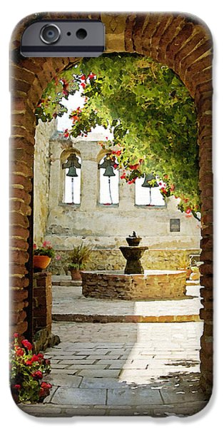 Mission iPhone Cases - Capistrano Gate iPhone Case by Sharon Foster