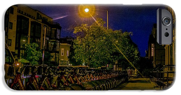 Night Lamp iPhone Cases - Capital Bikeshare iPhone Case by Sam Garvin