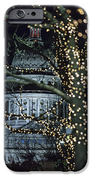 Morning iPhone Cases - Capitol Dome iPhone Case by Van Sutherland