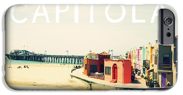 Santa iPhone Cases - Capitola iPhone Case by Linda Woods