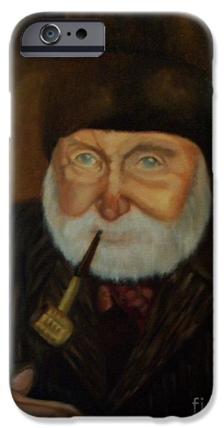Old Man With Beard iPhone Cases - Capn Danny iPhone Case by Marlene Book