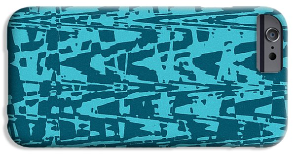 Abstract Digital Tapestries - Textiles iPhone Cases - Capri iPhone Case by FabricWorks Studio