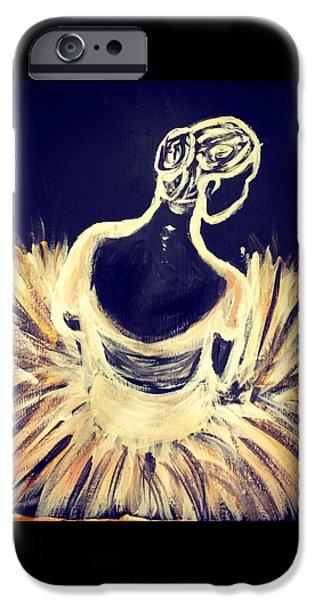 Ballet Dancers iPhone Cases - Gilded Corphyee iPhone Case by Alyssa Tidmore