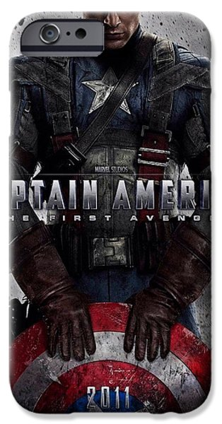 Captain America The First Avenger  iPhone Case by Movie Poster Prints