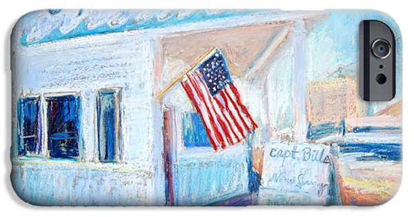 Usa Flag Pastels iPhone Cases - Captain Bills iPhone Case by Bethany Bryant