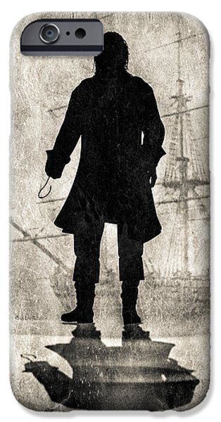 Pirate Ship iPhone Cases - Captain Hook   iPhone Case by Bob Orsillo