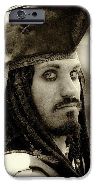 Captain Jack Sparrow iPhone Case by David Patterson