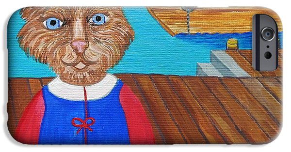 Boat iPhone Cases - Captain Philpott iPhone Case by Reb Frost