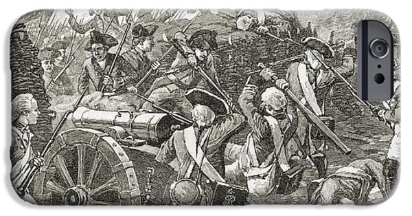 Yorktown iPhone Cases - Capture Of A Redoubt At Yorktown, 1781 iPhone Case by Ken Welsh