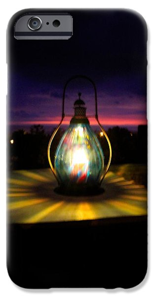 Hurricane Lamp iPhone Cases - Captured Glow  iPhone Case by Kimberly  Reeves
