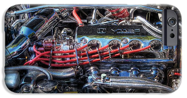 Gut iPhone Cases - Car - Engine - Car Intestines iPhone Case by Mike Savad