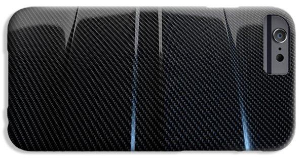 Manufacture iPhone Cases - Car Contour Carbon Fibre iPhone Case by Allan Swart