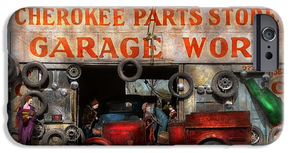 Daughter Gift iPhone Cases - Car - Garage - Cherokee Parts Store - 1936 iPhone Case by Mike Savad
