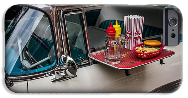 Vintage Car iPhone Cases - Car Hop iPhone Case by Perry Webster
