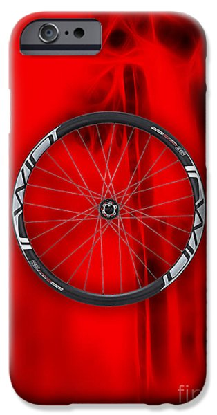 Racing iPhone Cases - Carbon Fiber Bicycle Wheel Collection iPhone Case by Marvin Blaine