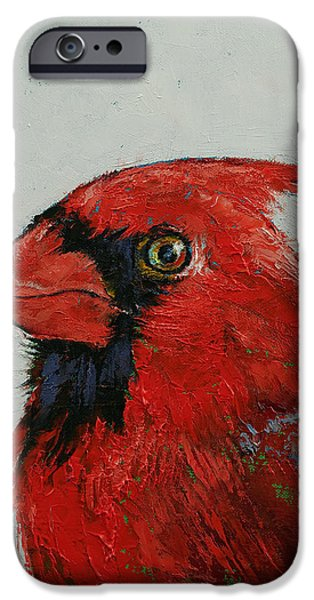 Cardinal iPhone Cases - Cardinal iPhone Case by Michael Creese
