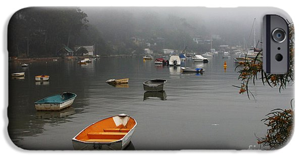 Mist iPhone Cases - Careel Bay mist iPhone Case by Sheila Smart