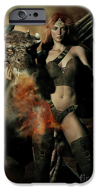Guardian iPhone Cases - Careful he Burns iPhone Case by Shanina Conway