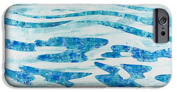 Abstract Expressionism iPhone Cases - Caribbean Blue iPhone Case by Sean Corcoran