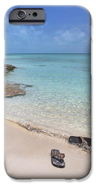 Timing iPhone Cases - Caribbean Flippin Flops iPhone Case by Betsy C  Knapp