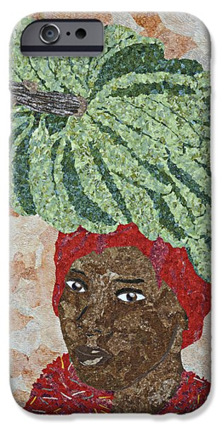 African-americans Tapestries - Textiles iPhone Cases - Caribbean Woman iPhone Case by Pauline Barrett
