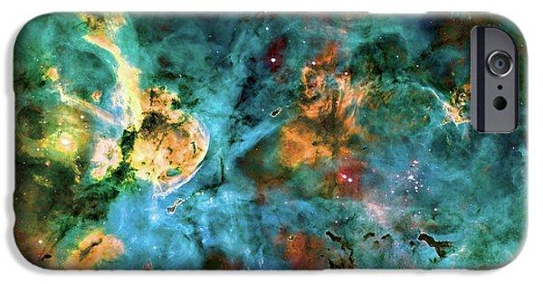 Nebula Photograph iPhone Cases - Carina Nebula 2  iPhone Case by The  Vault - Jennifer Rondinelli Reilly