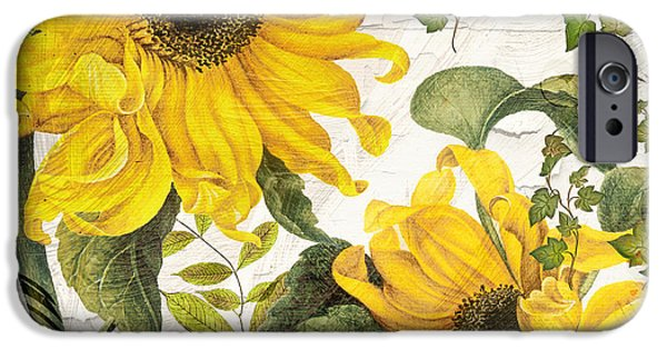 Annual iPhone Cases - Carina Sunflowers iPhone Case by Mindy Sommers