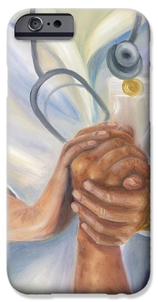 Healthcare iPhone Cases - Caring iPhone Case by Marlyn Boyd