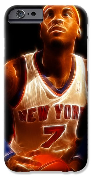 Carmelo Anthony iPhone Cases - Carmelo Anthony - New York Nicks - Basketball - Mello iPhone Case by Lee Dos Santos