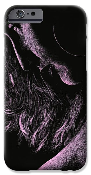 Figure Pastels iPhone Cases - Carmen iPhone Case by Richard Young