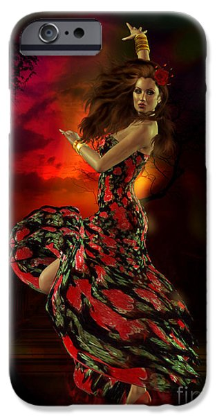 George Digital iPhone Cases - Carmen iPhone Case by Shanina Conway