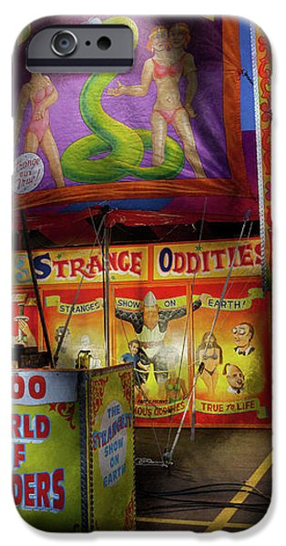 Carnival - Strange Oddities  iPhone Case by Mike Savad