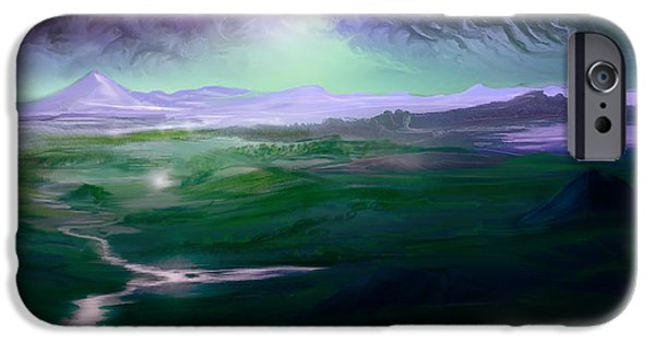 Storm iPhone Cases - Caroi hills iPhone Case by Mark Ehrett