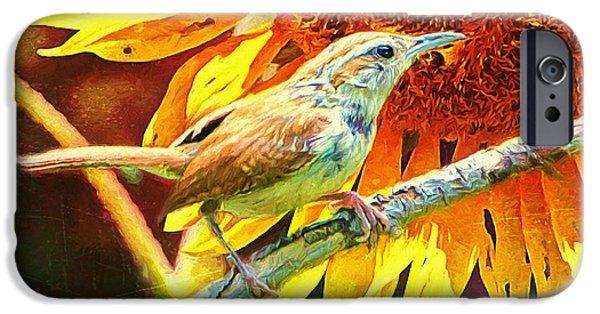 Birds iPhone Cases - Carolina Wren iPhone Case by Tina  LeCour