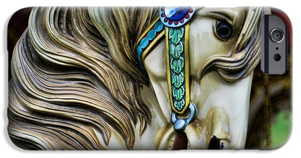 Carousel iPhone Cases - Carousel Horse  iPhone Case by Paul Ward