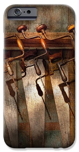 Carpenter  - Saws and Braces  iPhone Case by Mike Savad