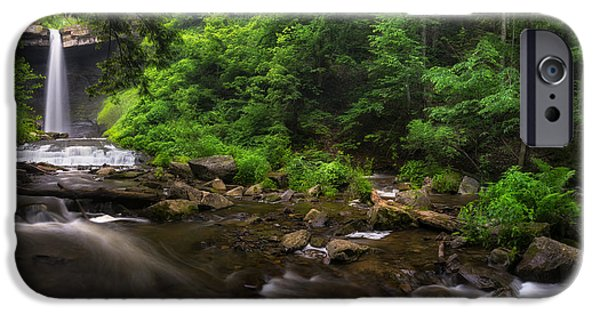 Creek iPhone Cases - Carpenter Falls Pano iPhone Case by Mark Papke