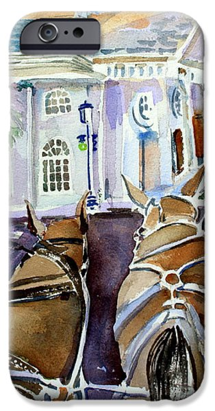 Horse And Buggy iPhone Cases - Carriage Ride in Charleston iPhone Case by Mindy Newman