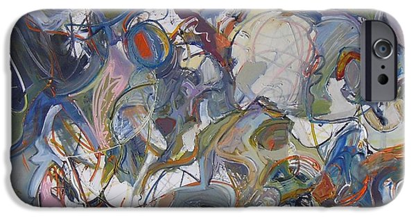 Abstract Expressionist iPhone Cases - Carried Away iPhone Case by Philip Rader