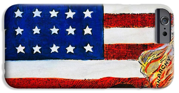 Best Sellers -  - Old Glory iPhone Cases - Cartoon: Red Scare, 1919 iPhone Case by Granger