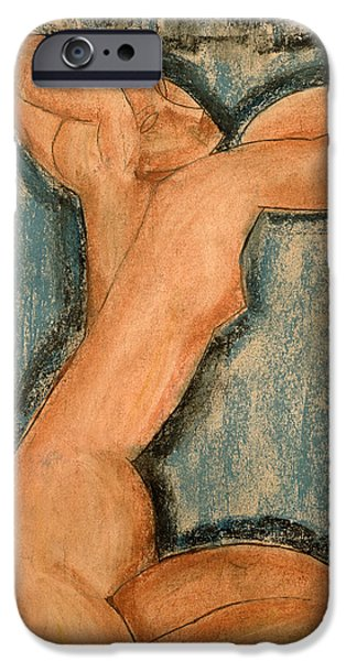 Pastel iPhone Cases - Caryatid iPhone Case by Amedeo Modigliani