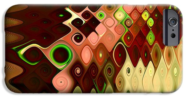 Abstract Digital Digital iPhone Cases - Cascade iPhone Case by Vicky Brago-Mitchell