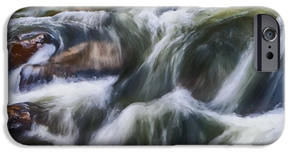 David iPhone Cases - Cascading River iPhone Case by David Millenheft