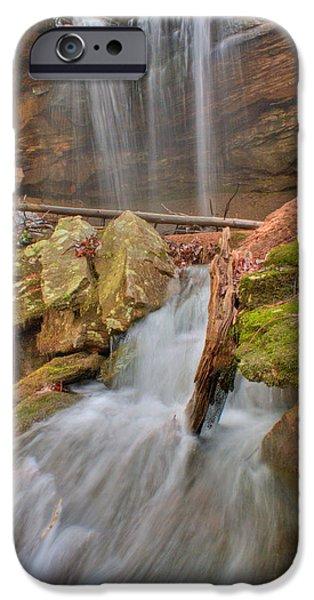Cascading Waterfall iPhone Case by Douglas Barnett