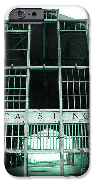 Asbury Park Casino iPhone Cases - Casino iPhone Case by Colleen Kammerer