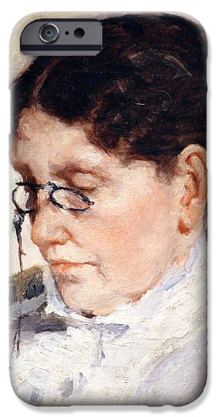 Cora Wandel iPhone Cases - Cassatts The Woman Reading Le Figaro iPhone Case by Cora Wandel