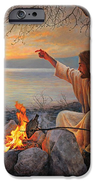 Cast Your Nets on the Right Side iPhone Case by Greg Olsen