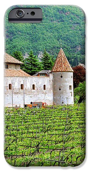 Castle and Vineyard in Italy iPhone Case by Greg Matchick